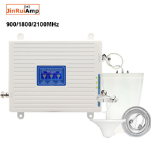 2G 3G 4G tri band repeater GSM Cellular Signal Booster 70dB GSM 900 LTE 1800 WCDMA 2100mhz Mobile Signal Repeater Antenna Set