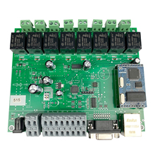 8 قناة شبكة إيثرنت TCP IP التتابع وحدة تبديل التحكم أتمتة المنزل الذكي تحكم عن بعد الأمن إنذار PCB