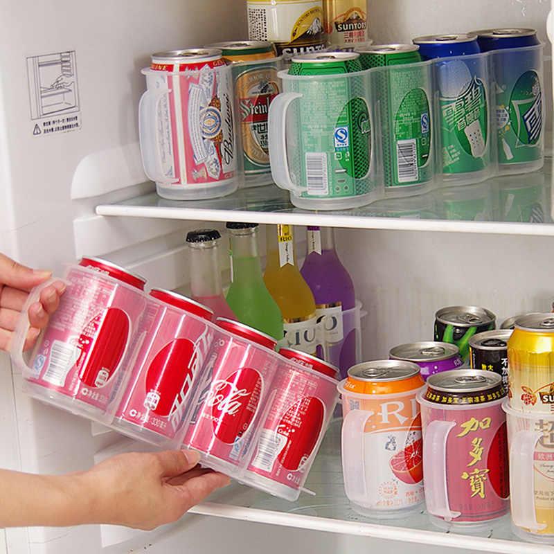 Organizador de Latas de 2 Piezas Organizador de Latas de Cerveza Transparente Organizador de Latas de Refresco para Refrigerador de Cocina Casera