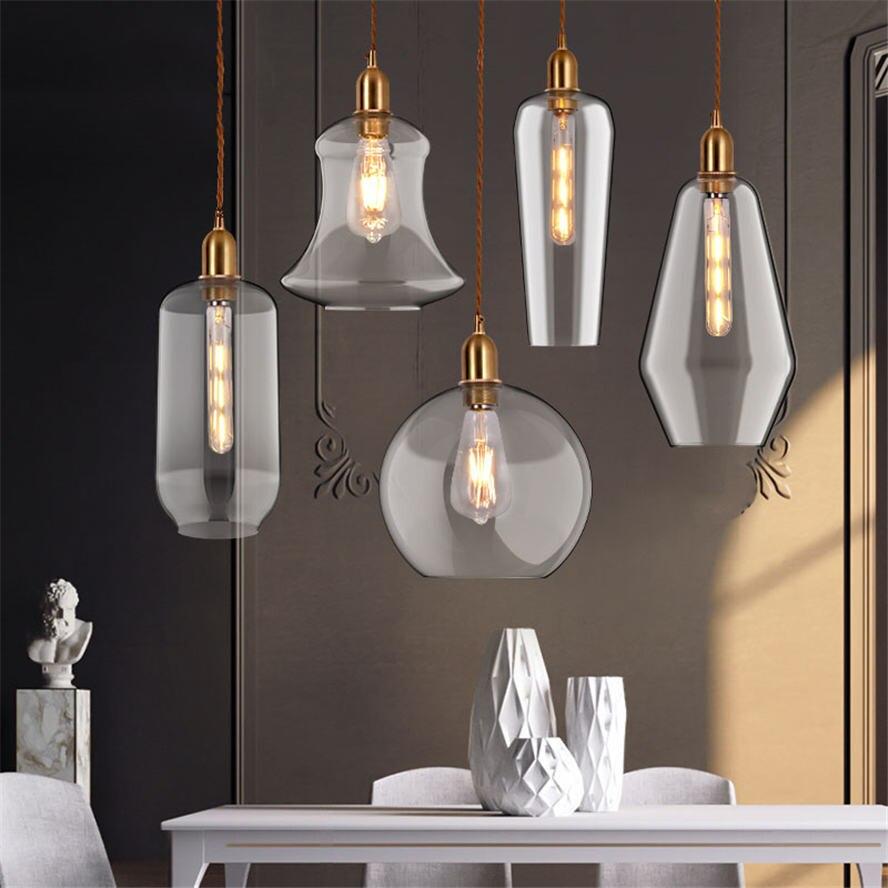Американский ретро стеклянный подвесной светильник минимализм кантри Лофт подвесной светильник Кухонные светильники подвесной светильни