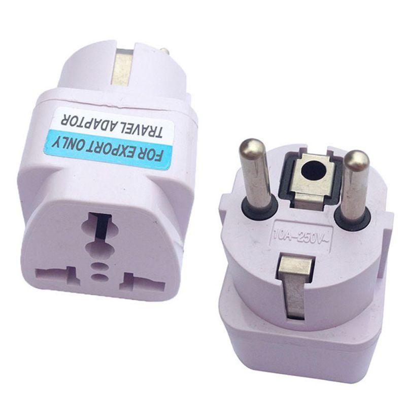 Купить с кэшбэком Universal UK US AU To EU Power Adapter Portable Travel Converter Small Compact Charger Adapter Converter