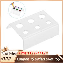 6 Holes Tattoo Ink Cup Holder Pigment Container Stand Tattoo Acrylic Permanent Makeup Microblading Pigment Cup Cap Stand Holder