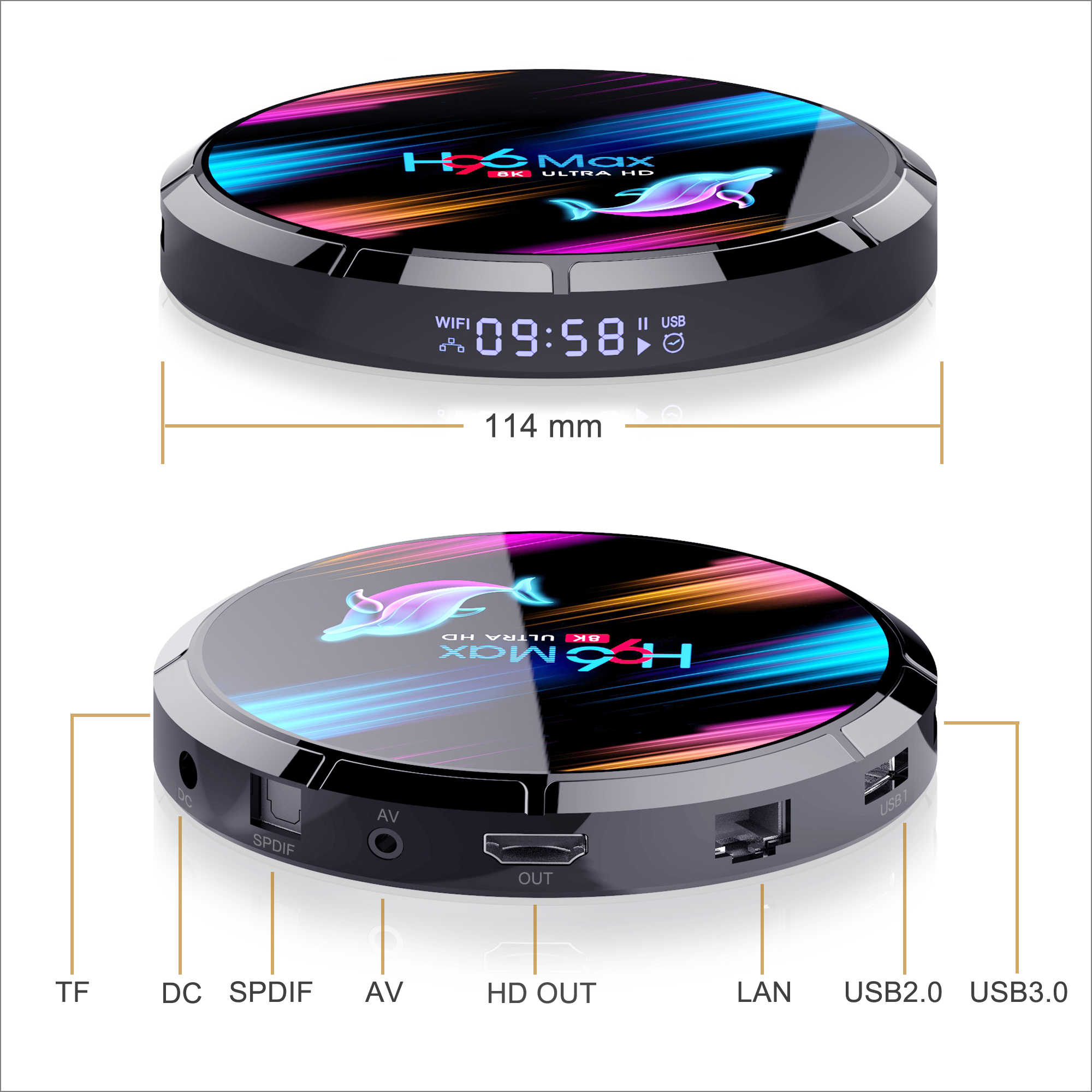 LEMFO TV kutusu S905X3 Android 9.0 8K akıllı tv kutusu 4GB 64GB HDMI 2.1 LAN 1000M 2.4G/5G WIFi Netflix Hulu Flixster Youtube SmartBOX