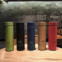 L01life Insulated Mug Men And Women Portable Stainless Steel Mesh Red INS-Style Creative Korean Version Business Water Bottle T