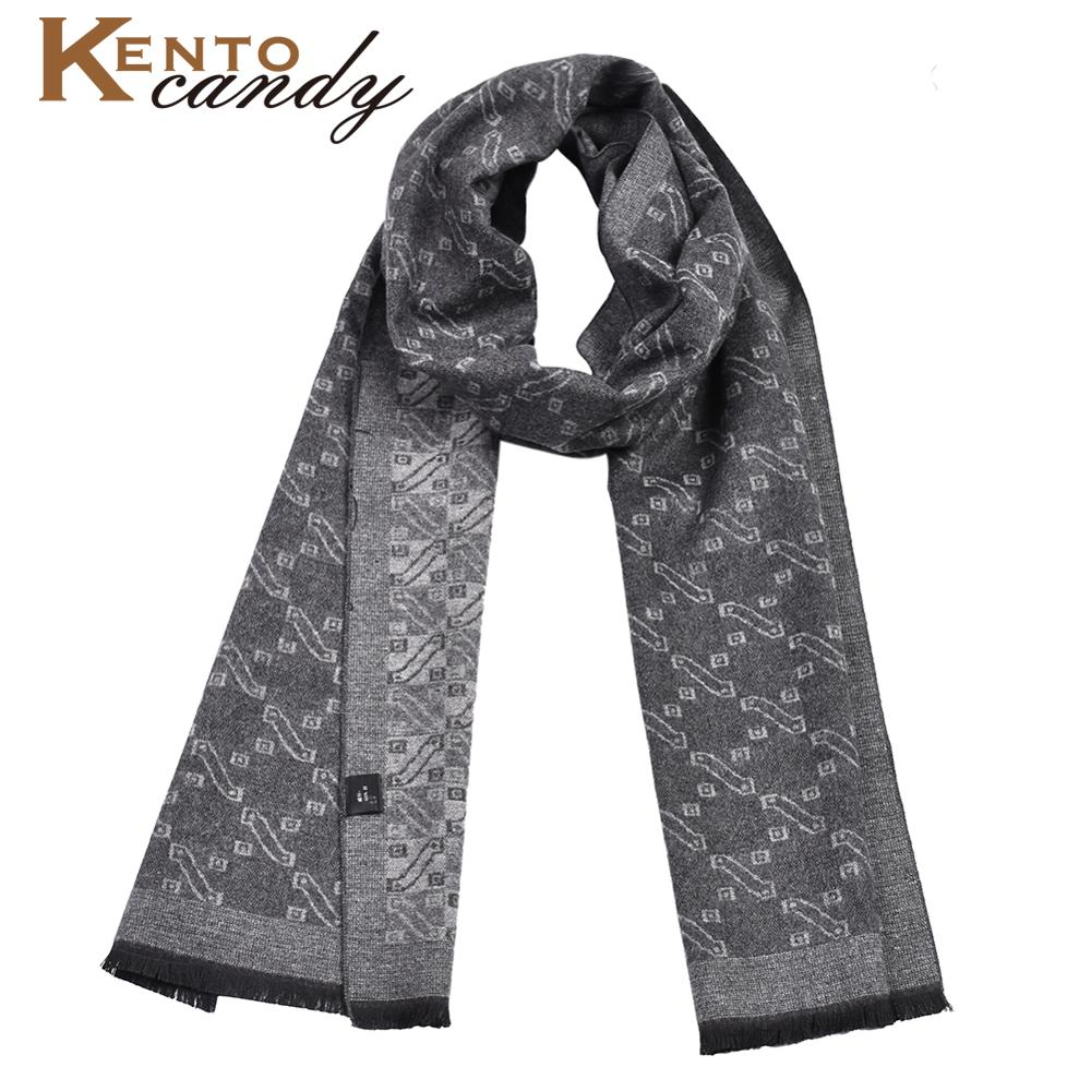 High Quality Silky Scarf Luxury Classical Warm Long Soft Cravat Bandana Cotton Winter Scarves For Men Winter Accessories