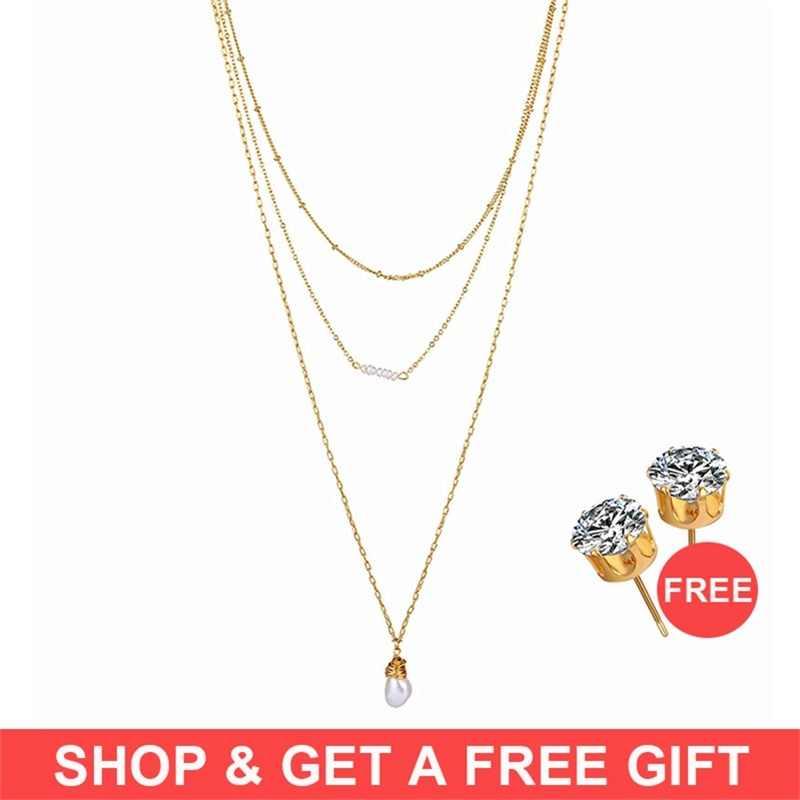 Купить 1 получить 1 подарок Золотой винтажный магнит для монет чокер женский многоярусный жемчужный колье в стиле бохо 2019 женские модные ювелирные изделия