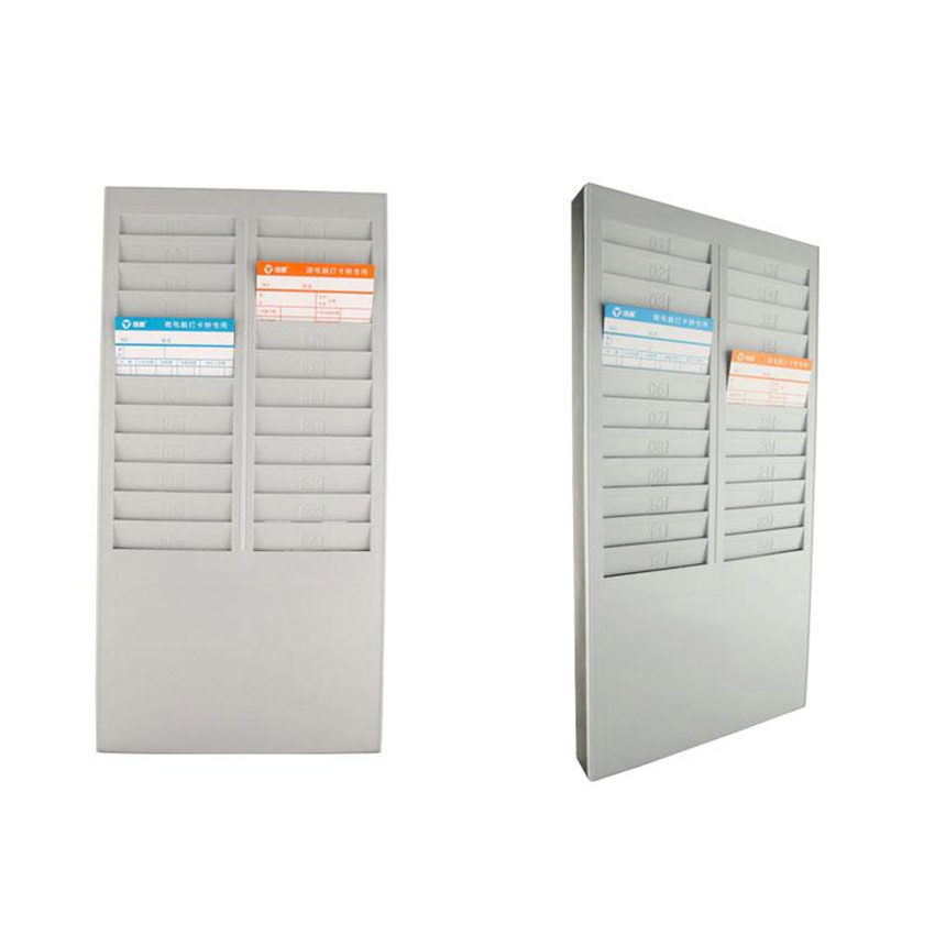Time Card Rack Time Card Holder with 24 Slots Plastic Wall Mounted Cards Holder for Time Card Machine Attendance Recorder