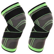 1pc joelho suporte protetor joelheira kneepad joelho almofadas pressurizado elástico cinta cinto para correr basquete voleibol joelheira