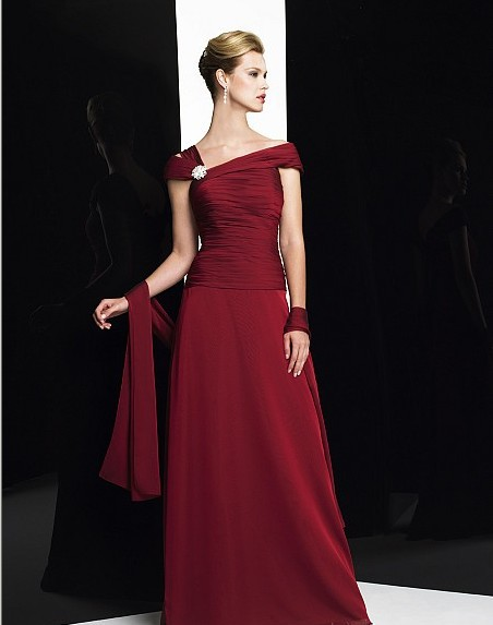 2018 Vestido De Festa Red Long Robe De Soiree Cap Sleeve Party Elegant Formal Gown Vestido De Noiva Mother Of The Bride Dresses