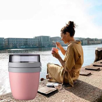1PC Lunch Cup kreatywny przenośny podróży konserwacja miska wyjść pudełko na Lunch jogurt nakrętka deser konserwacja puchar zastawa stołowa gorąca sprzedaż tanie i dobre opinie CN (pochodzenie) Ekologiczne Szczelne 700ml food grade PP 12x12x16cm
