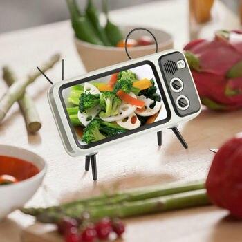 Mini Portable Retro BT Bluetooth Speaker Music TV Design Mobile Phone Holder Speaker Stereo Outdoor Sound 5