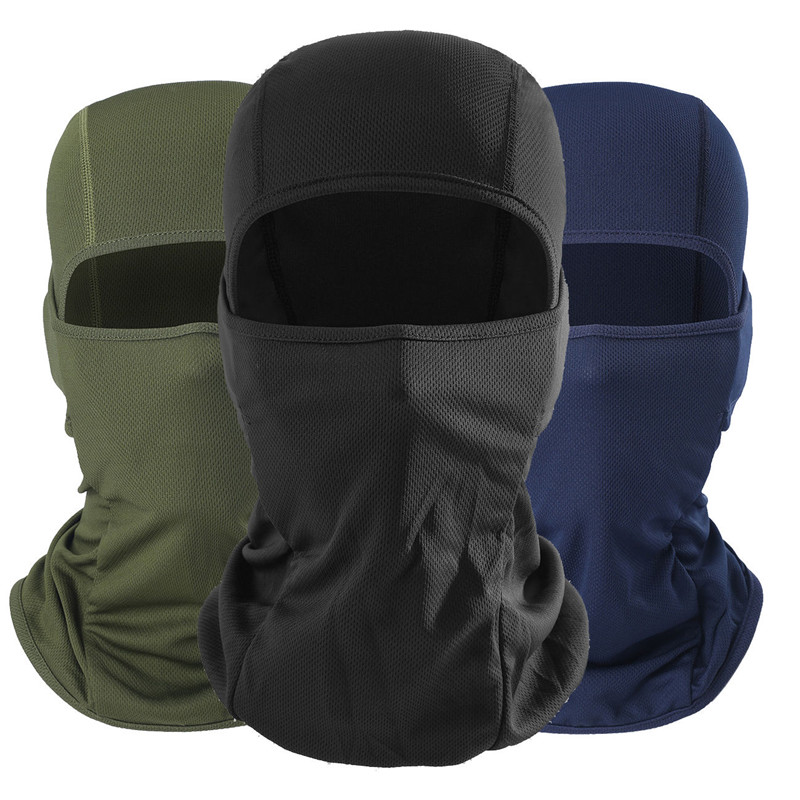 1 PC Outdoor Ski Full  Black Motorcycle Cycling Hunting Women And Man Face Masks