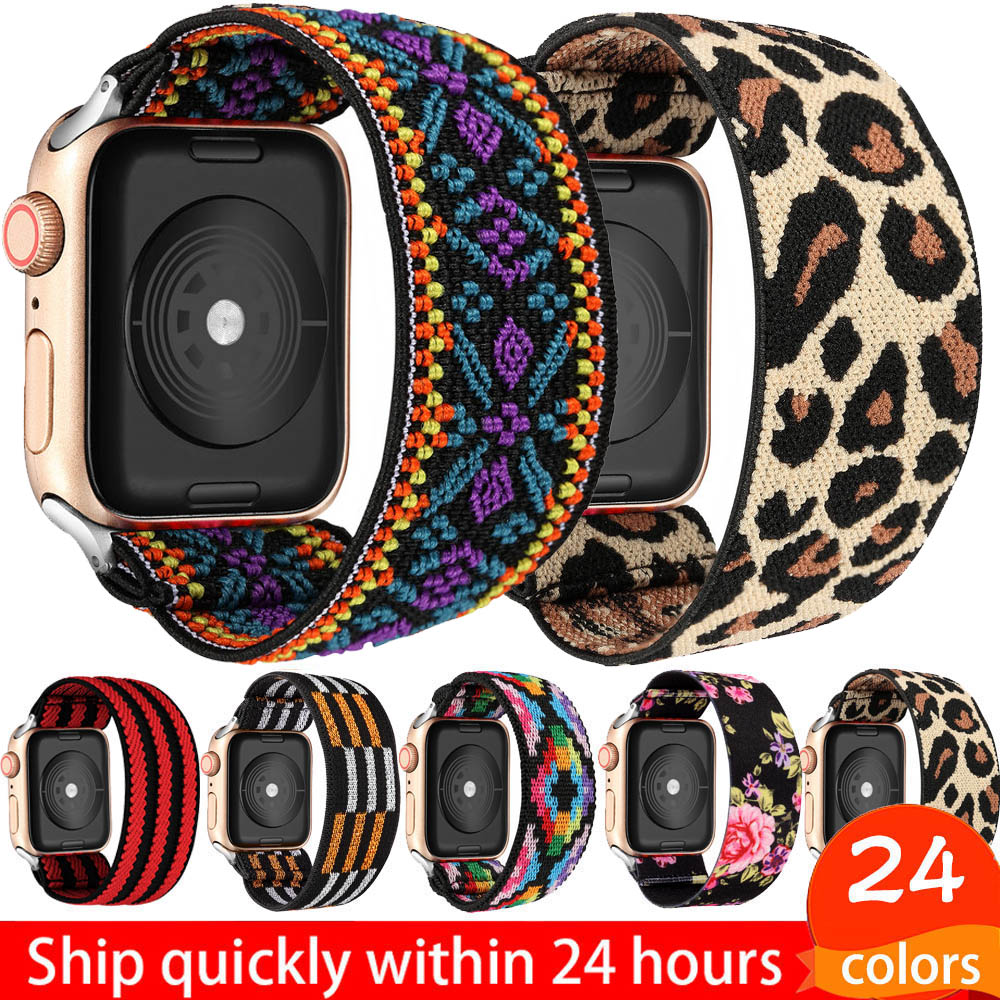 Elastic Watch Band for Apple Watch 5 6 4 Scrunchie Band 38mm 40mm 42mm 44mm Casual Women Strap Bracelet for iwatch series 6 5 4