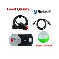 2020 Vd Tcs Cdp Obd Obd2 Scanner Voor Delphis Vd Ds 150e Cdp 2016R0 Bluetooth Voor Auto Trucks Diagnostic Tool + 8 Stuks Auto Kabels