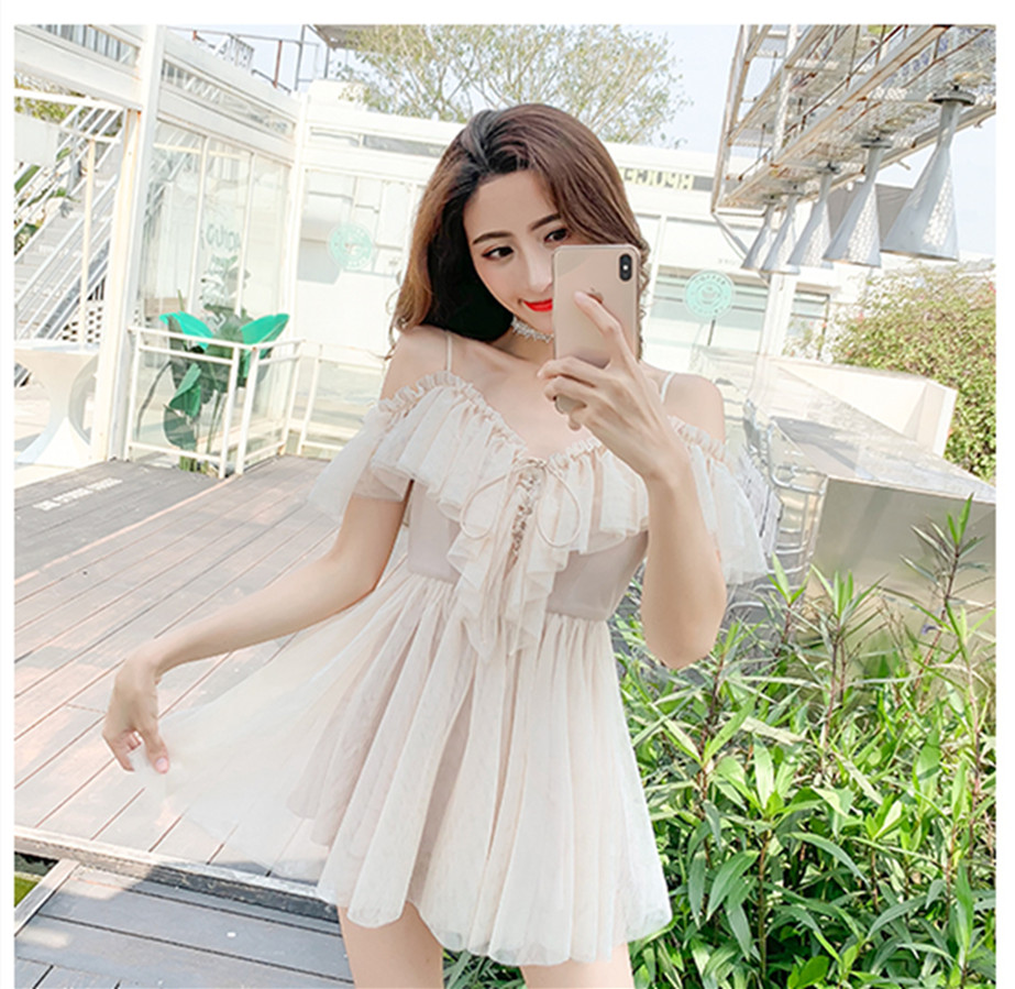 kawaii girl gothic lolita op loli cos vintage v-neck falbala mesh bandage victorian dress Sexy sweet lolita dress