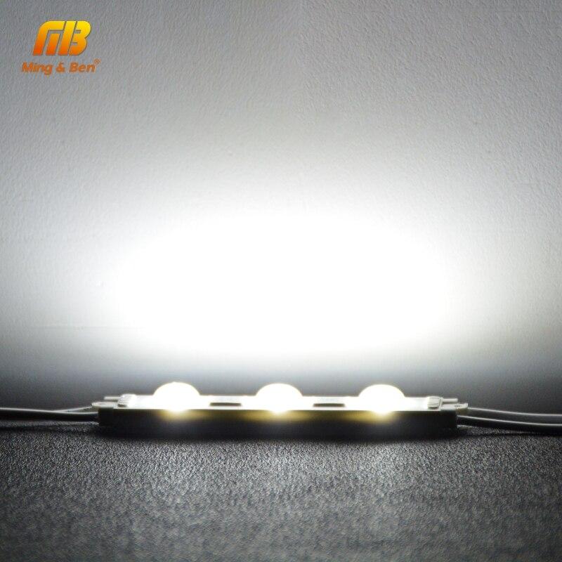 LED Module Light 220V 3LED Injection LED Module White 5PCS 10PCS 15PCS 20PCS/lot Super Bright Professional Wall Kitchen Light 5