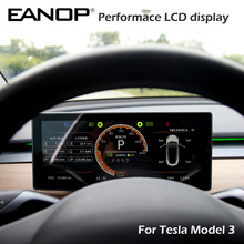 Eanop Hud Digitale Performace Lcd Display Snelheid Bandenspanning Monitoring Voor Tesla Model 3