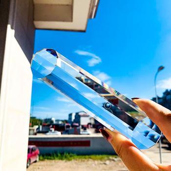 150MM Stripe Faceted jasny kryształowy żyrandol ze szkła część Prism DIY Suncatcher Home Windows ślubne akcesoria dekoracyjne tanie i dobre opinie CN (pochodzenie) 30mm 2Head150mm