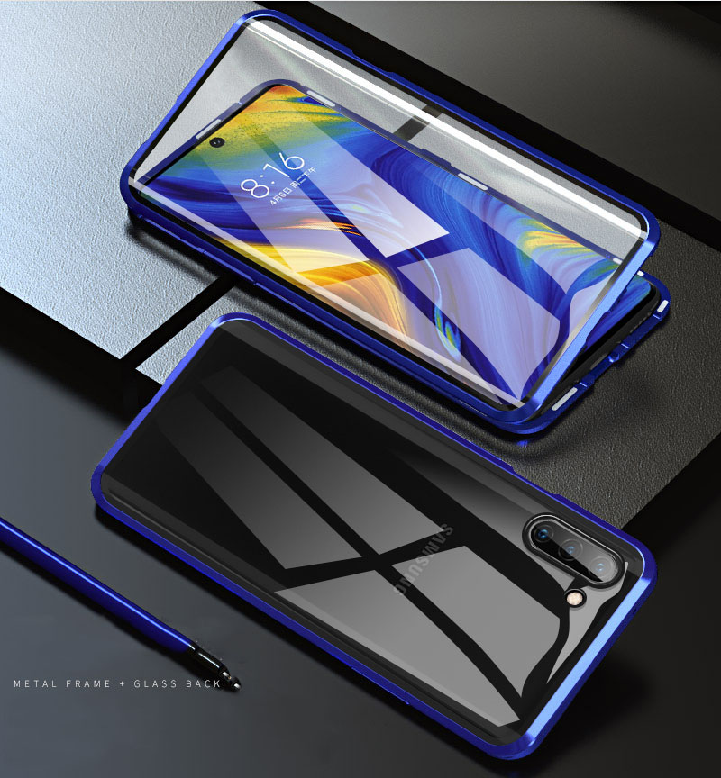 360 Magnetic Double-Side Glass Case For Samsung Galaxy Note8 Note9 Note10 Pro S10 S8 S9 Metal Frame Tempered Glass Cover