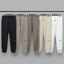 20ss sweatpants essentials calças de moletom calças de ganye west jerry lorenzo sola tamanho grande calças de algodão hip hop
