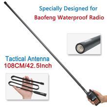 ABBREE الجيش طوي التكتيكية المزدوج الفرقة VHF/UHF 144/430 ميجا هرتز هوائي ل Baofeng UV XR UV 9R زائد راديو لاسلكي تخاطب