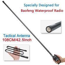Abbree exército dobrável tático dupla banda vhf/uhf 144/430mhz antena para baofeng UV XR UV 9R mais rádio walkie talkie