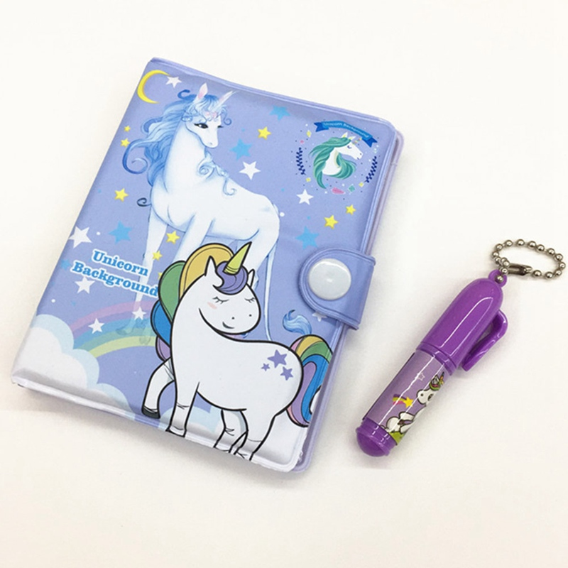 1Set Cute Unicorn Notebook With Ballpoint Pen Notepad Diary Notebook Exercise Book Stationery School Office Supply Color Random