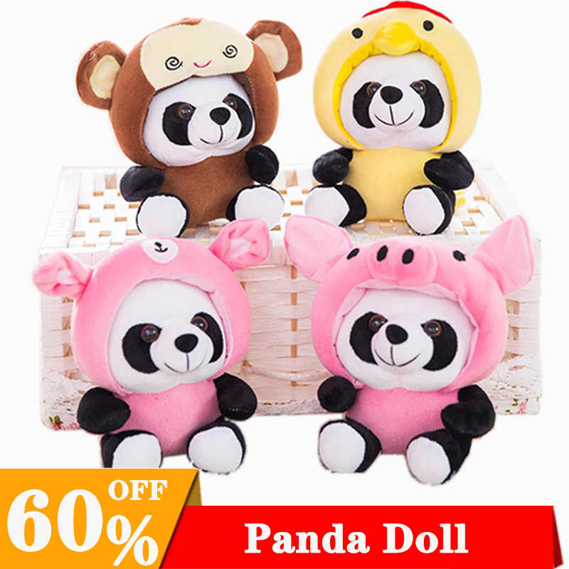 Cartoon Soft Toy 12 Chinese Zodiac Panda Plush Doll Toy For Children Kawaii Pandas Stuffed Stitch Doll Children For Gift Kid Toy
