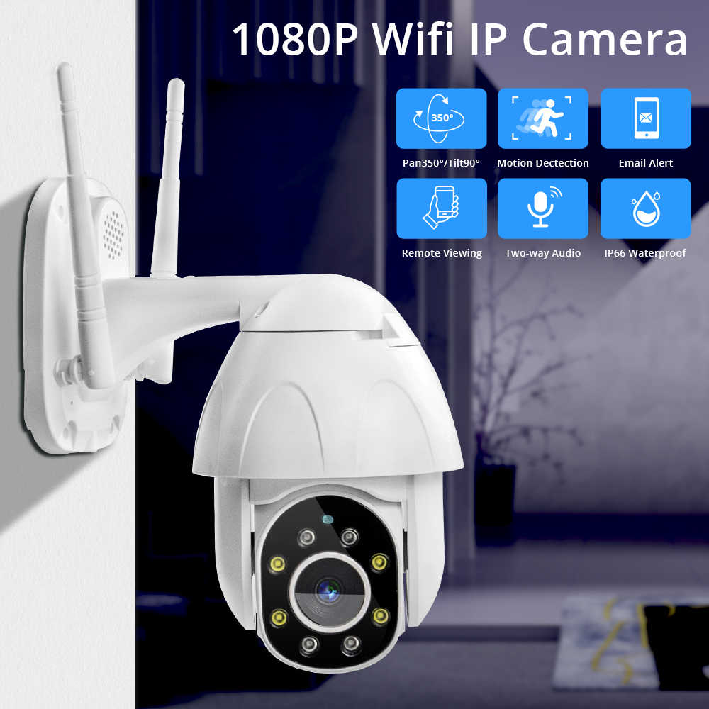 Zclever 1080P PTZ Dome Camera Auto Tracking Draadloze Wifi IP Camera Speed Dome Pan Tilt 4.0X Digitale Zoom met twee Weg Audio