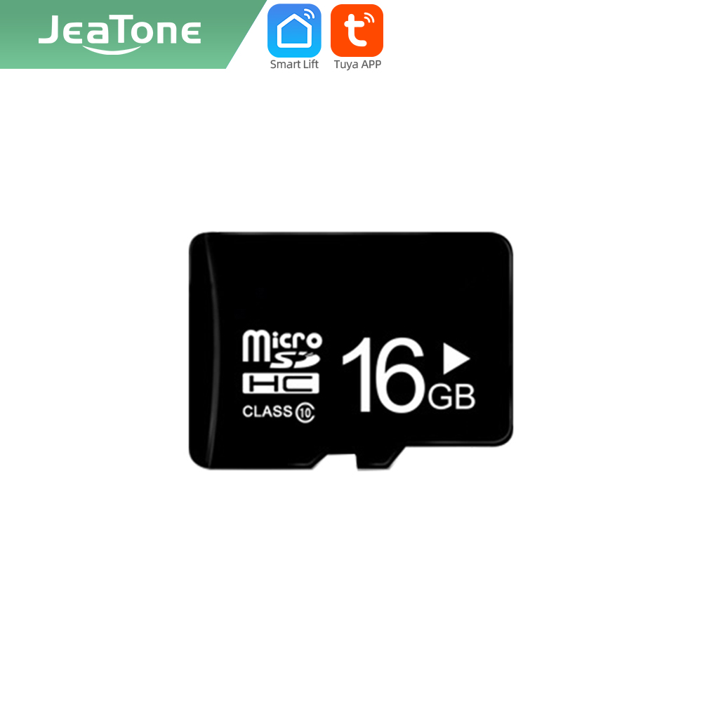 Sd-Memory-Card Phone-Intercom Video-Door Jeatone Tuya Smart for Our with 16G