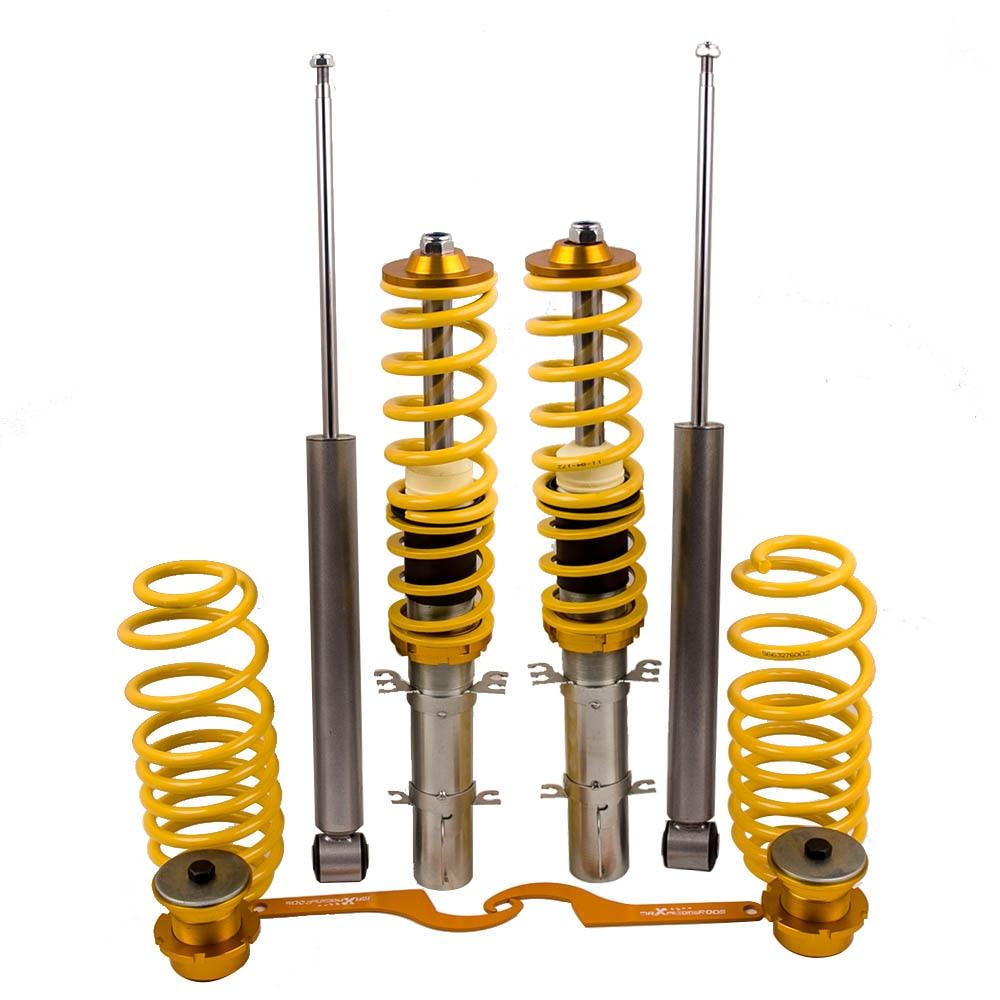 Kits de carillons de Suspensions pour VW Golf MK4, Jetta MK4, Audi A3 MK1, nouvelle Beetle 1997-2010 abaissement amortisseur jaune