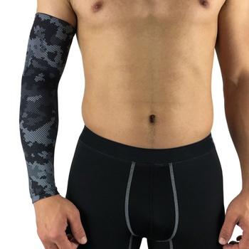1Pc sport Arm opaska kompresyjna koszykówka kolarstwo Arm Warmer lato Running ochrona UV ochrona przeciwsłoneczna ocieplacze na ręce tanie i dobre opinie Hewolf CN (pochodzenie) 38-40cm Poliester