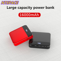 16000mAh Extended Phone Battery Power For iPhone Samsung Mini Power Bank Dual USB Portable Battery Charger For Xiaomi Huawei