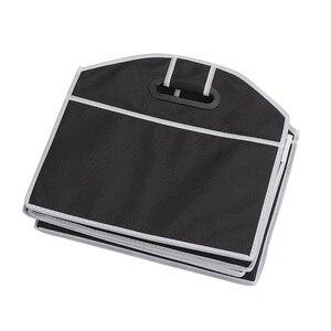 Image 4 - Auto Rücksitz Organizer Multi Tasche Lagerung Tasche Große Kapazität Klapp Auto Stamm Verstauen Aufräumen Zubehör
