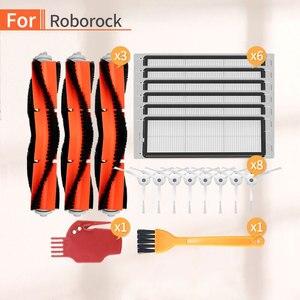 Image 1 - robot Vacuum cleaner filter HEPA side brush  accessories for xiaomi mijia c10 roborock s6 s50 s55 s52 p50 vacuum cleaner parts