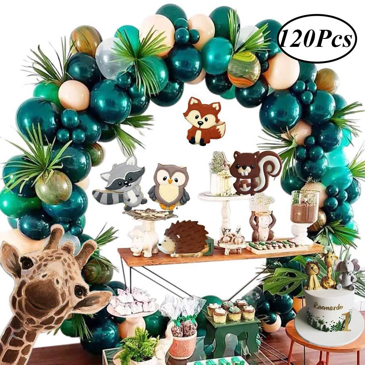 Jungle Safari Theme Party Decorations Green Balloon Arch