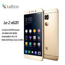 Letv – téléphone portable LeEco Le 2 X620 95, écran de 5.5 pouces, Smartphone, 3/4 go de RAM, 32 go de ROM, processeur MTK Helio X20 Deca Core, caméra de 16 mpx, identification par empreinte digitale, 1920x1080, nouveau
