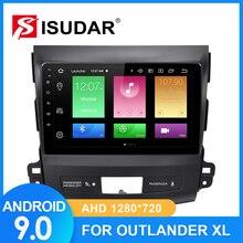 Autoradio ISUDAR pour MITSUBISHI/OUTLANDER 2007 2012 2 din Android 9 Autoradio multimédia GPS DVR caméra RAM 2GB ROM 32GB USB FM