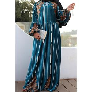 Мусульманское платье абайя, роскошное бархатное винтажное платье с цветочным принтом в Дубае, турецкие марокканские платья, вечерние плать...