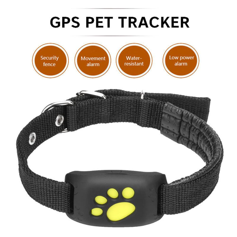 Cute Lightweight GPS Dog Cat Pet Realtime Tracker GSM/GPRS Finder Locator Alarm Waterproof Collar Remote Listening