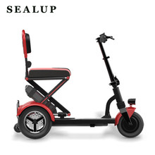 2019 Folding Electric Vehicle Elderly Scooter Electric Tricycle Disabled Bicycle Lithium Battery(China)