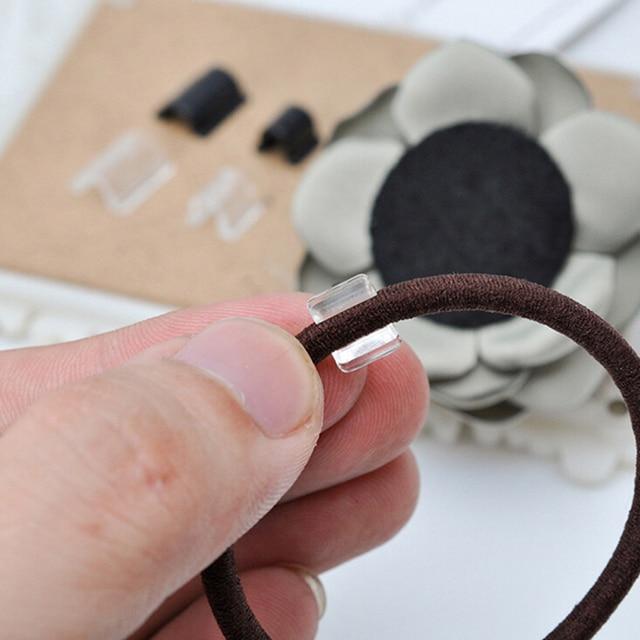 100 sztuk Elasitc gumką wklej klamry dla kobiet dziewczyna DIY do włosów zespół krawat koło łuk akcesoria przybory fryzjerskie złącze
