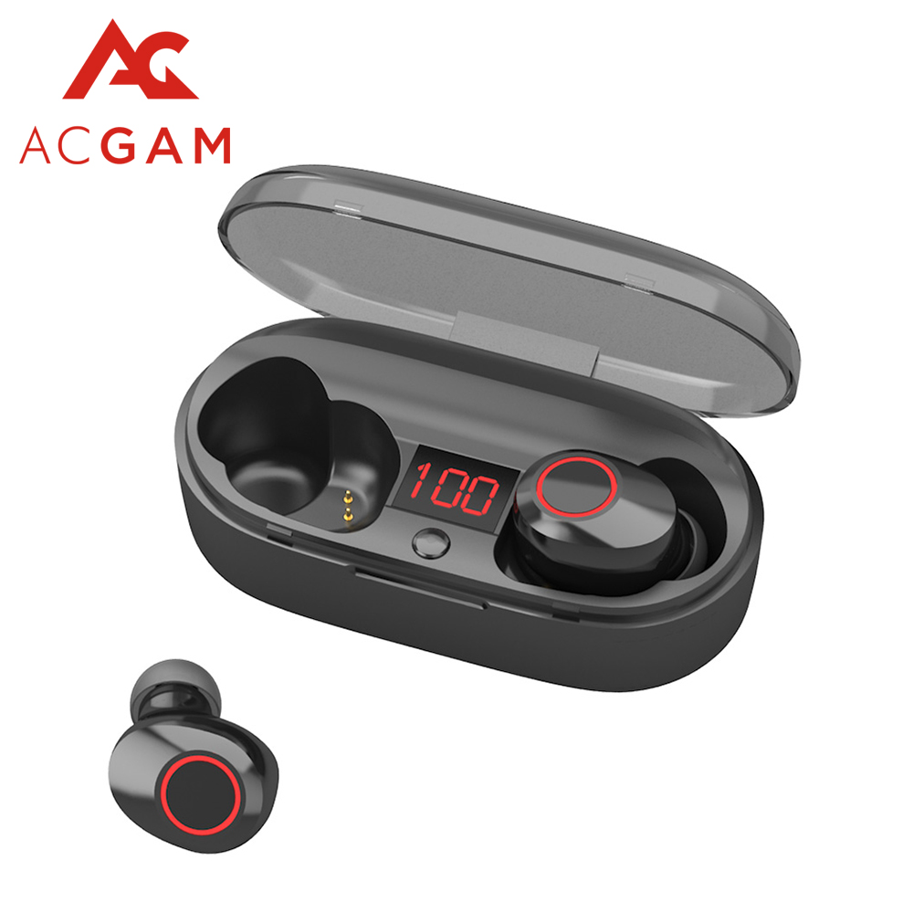 New J29 TWS Bluetooth 5.0 Earphone Mini Wireless Earbuds HIFI 3D Stereo with Mic Charging Box Sport Headset For For Smart Phone image