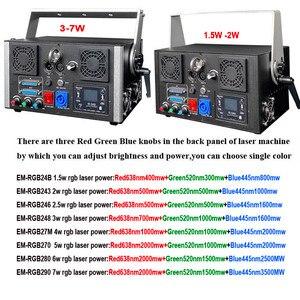 Image 4 - DMX + ILDA + SD + 2D + 3D многоцветный 3 Вт rgb лазерный светильник/dj светильник s/сценический светильник/лазерный проектор