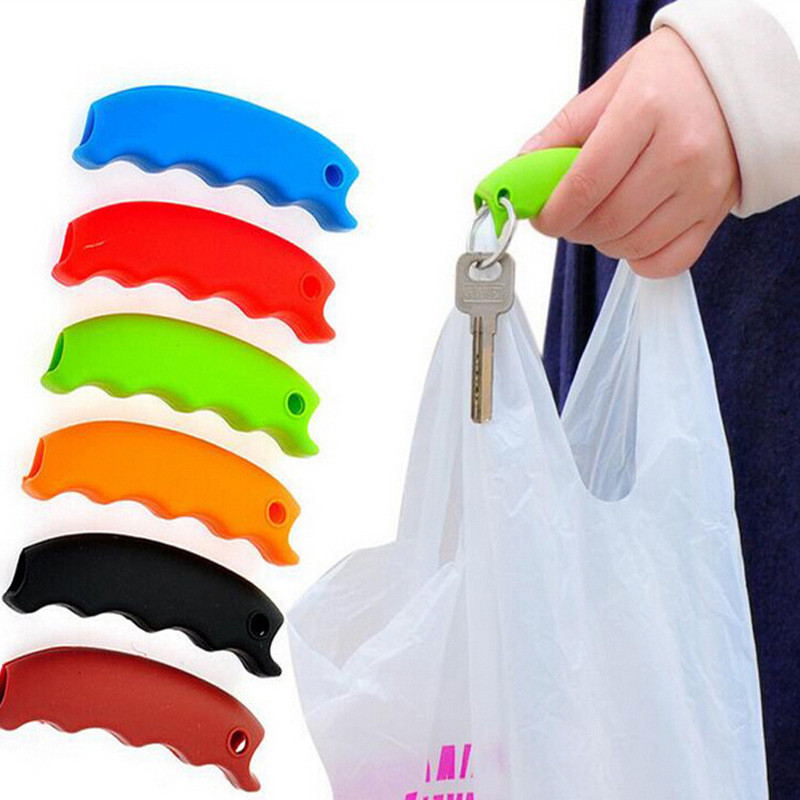Durable Soft Silicone Shopping Handle Shopping Helper Tool Portable Handy Carry Shopping Storage Bags Clip Handheld Device