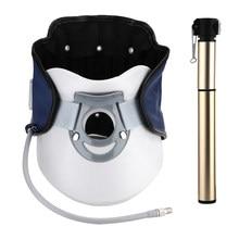 Dispositif de Traction cervicale de cou infrarouge soutien puissant civière gonflable réglable de cou 360 Protection de cou orthèse pompe à Air