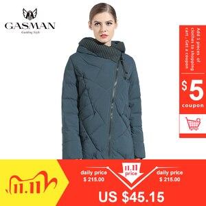 Image 1 - GASMAN 2019 New Winter Collection Fashion Thick Women Winter Bio Down Jackets Hooded Women Parkas Coats Brand Plus Size 6XL 702