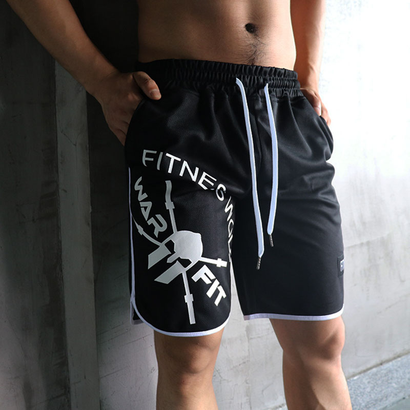 New Arrival 2019 Summer Mens Fitness Bodybuilding Breathable Quick Drying Short  Men Casual Joggers Shorts M-2xl Wholesale