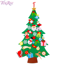 3D DIY Felt Christmas Tree Decorations For Home Ornaments Gift Kids Cristmas Noel Happy New Year 2020