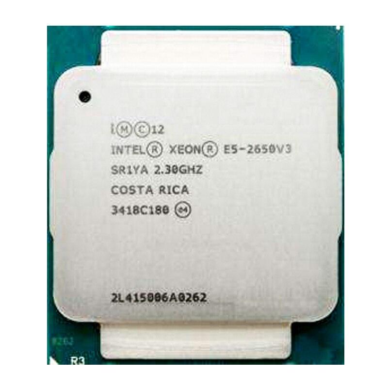 Intel Xeon E5 2650 V3 מעבד SR1YA 2.3Ghz 10 Core 105W שקע LGA 2011-3 מעבד E5 2650V3